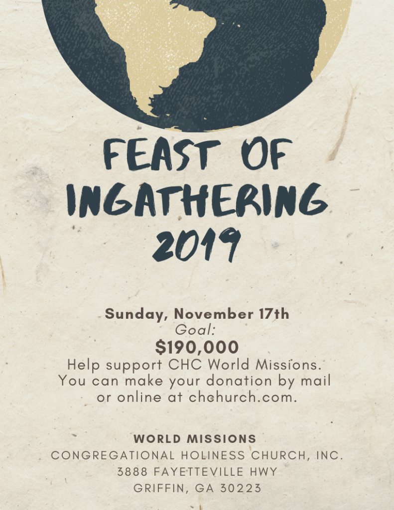 Feast of ingathering