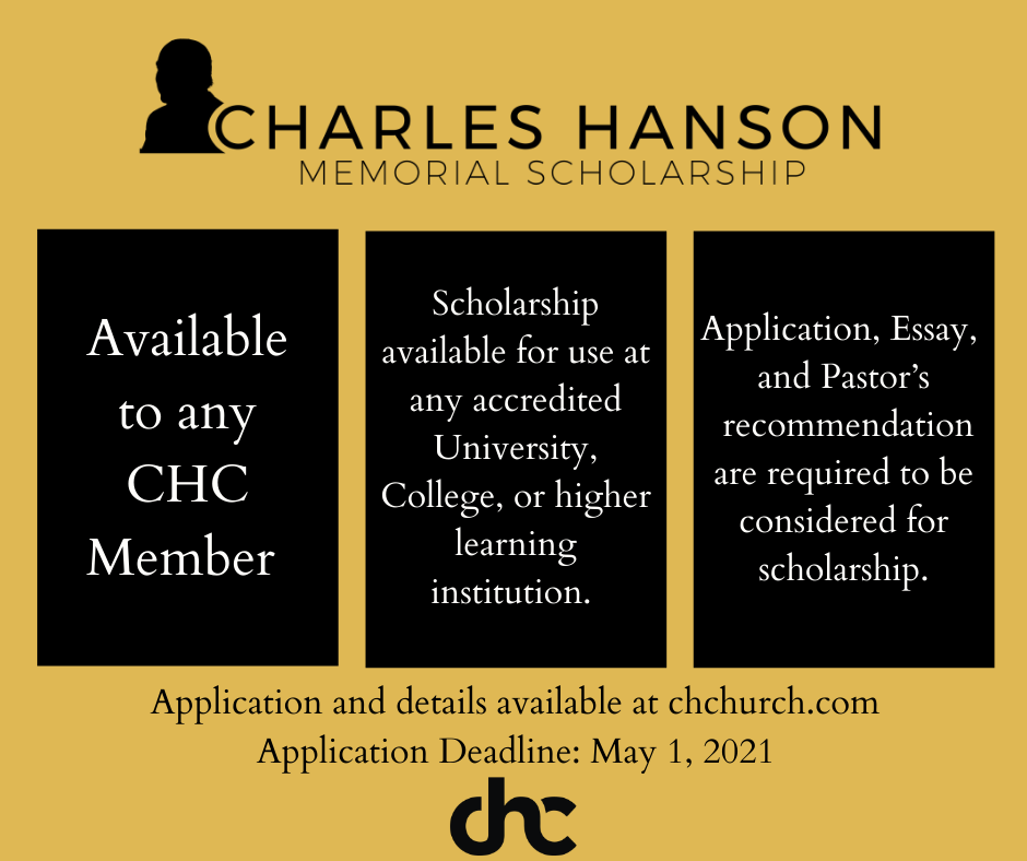 Charles Hanson Memorial Scholarship